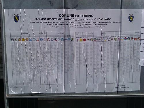 lenzuolone elettorale torinese