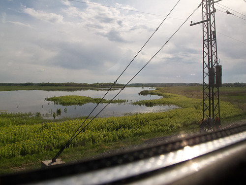 View from train window