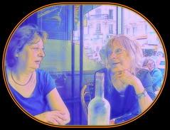 The conversation (Pifou 2010) Tags: street light paris france art colors marie restaurant couleurs montmartre lumiere natasha rues 2014 theconversation gerardbeaulieu pifou2010