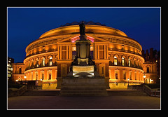 Royal Albert Hall (Aubrey Stoll) Tags: uk longexposure england music london westminster lights royalalberthall nightshot bluehour theatres theunforgettablepictures