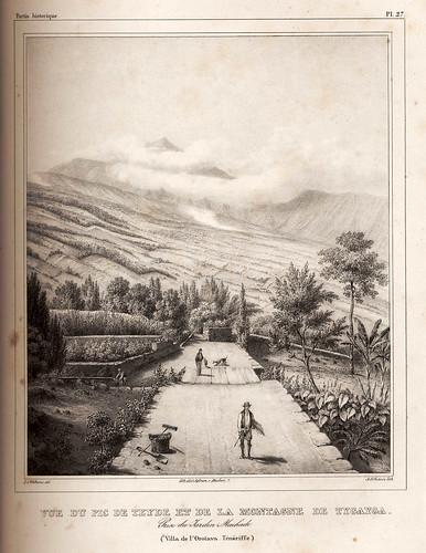 014-Vista del Pico del Teide y de la Montaña de Tygayga desde el Jardin Machado en la Orotava