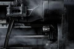 Valve Gear (Chris Abram) Tags: saveme deleteme10 great central railway trains steam preserved railways locomotives steamtrains lms greatcentralrailway blackwhitephotos