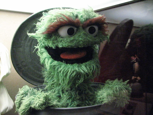 Oscar the grouch by Meri Tosh, on Flickr