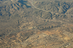 Above the San Andreas fault in Palmdale, Los Angeles County, California (cocoi_m) Tags: california nature desert suburbia harold sanandreasfault fault palmdale sanandreas mojavedesert sangabrielmountains geomorphology aerialphotograph losangelescounty californiaaqueduct highway14 pearblossomhighway