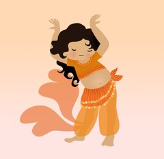 Which do you like better? (relentlesstoil) Tags: illustration child drawing bellydancer dancer belly