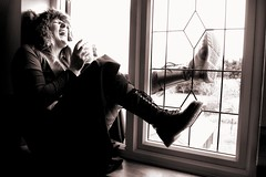 #365 (evilibby) Tags: blackandwhite bw silly window blackwhite boots tea laugh libby 365 windowsill docs drmartens dms spareoom 365days explored wolfhat pintoftea