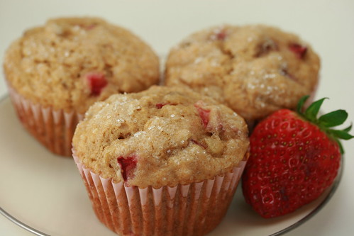 California) Strawberry Banana Muffins