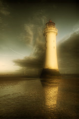 Mr Majestic makes a return.. (jetbluestone) Tags: winter lighthouse clouds evening hdr newbrighton perchrock aplusphoto