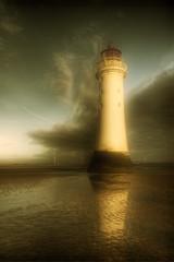Mr Majestic makes a return.. (jetbluestone) Tags: winter lighthouse clouds evening hdr newbrighton perchrock aplusphoto