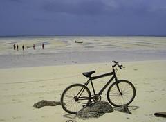 Gone Fishing (Sally Bowe) Tags: blue beach bike bicycle zanzibar platinumphoto mapenzibeach multimegashot sallybowe
