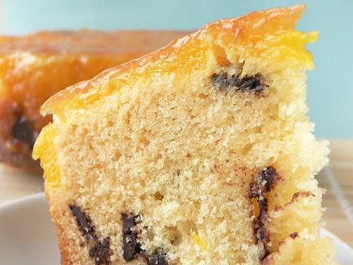 Orangen-Marzipan-Kuchen mit Schokolade