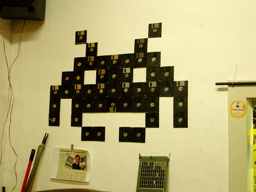 recycled floppy disks