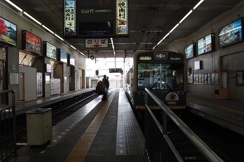 Ran-den shijo-omiya station (嵐電四条大宮駅)