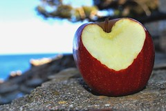 (_Carlia) Tags: apple ipod amor paisaje itunes corazn fornells begur empord loveapples mordizco