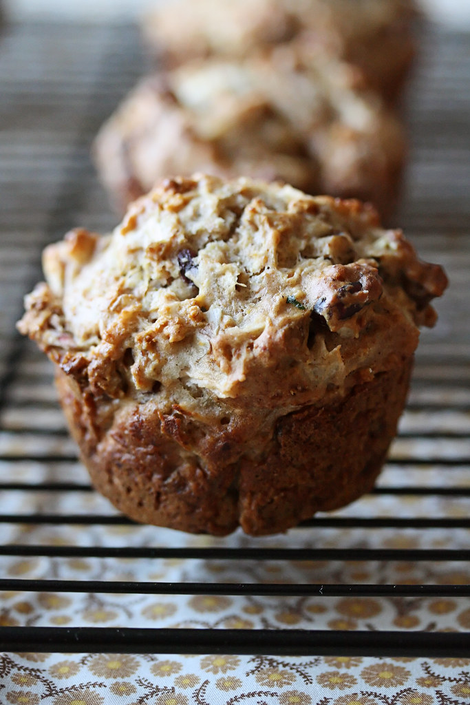Apple, Cranberry and Walnut Muffins