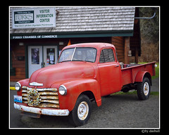 Bella`s Truck In Twilight (Bonell Photography (dasbull)) Tags: old red tourism truck movie poster swan twilight vampire rusty center tourist edward chevy wa bella isabella visitors washingtonstate forks information lapush warewolf edwardcullen bellaswan dasbull bellacullen ronbonell