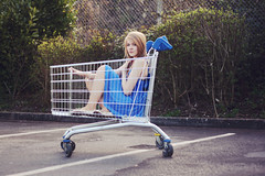 (francesca-jane) Tags: urban girl beauty fashion tarmac photography saturated allen trolley emma francesca frenchie carpark