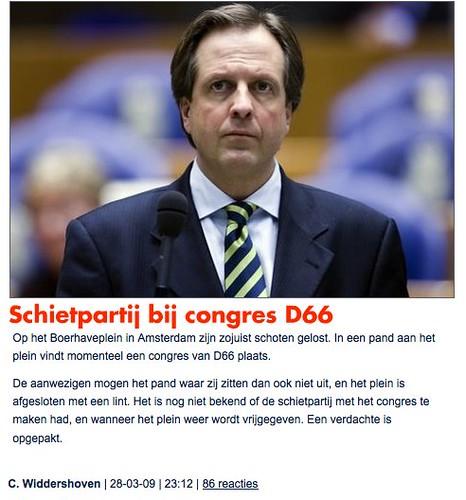 Spits: Schietpartij bij congres D66