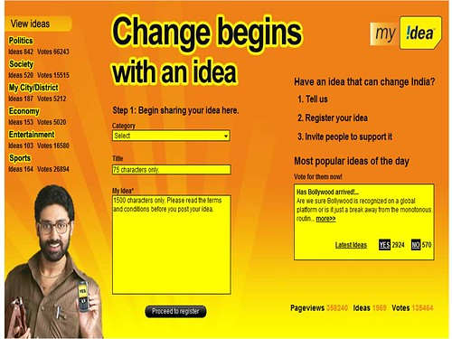 Idea Cellular My Idea