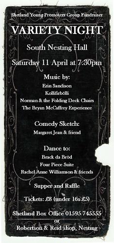 SYPG Variety Night poster