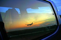 Into My Car (The JASS) Tags: sunset reflection nature plane landscape d70s landing malaysia klia sepang senja kualalumpurinternationalairport jasni kapalterbang selangur
