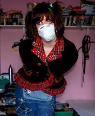 Inosento (P-J-TRASH) Tags: japanese punk mask innocent harajuku kawaii british tartan inosento