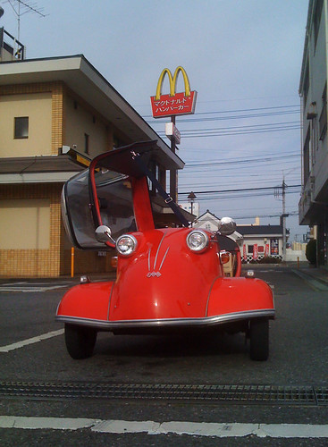 Messerschmitt in McDonald's [Apr. 04. 2009]