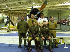 Air Mechanic's and aircrew of Bristol F2b Fighter E2466 (Rob Langham) Tags: world london history museum bristol 22 living war fighter force air royal first ww1 f2b raf squadron hendon colindale