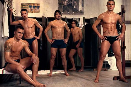 hot italian football players shirtless with underwear