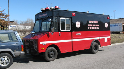 Chicago Fire Department Chevrolet Stepvan support services canteen truck. Glenview Illinois. March 2009. by Eddie from Chicago