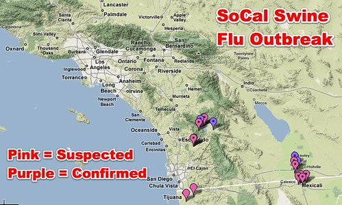 H1N1 Swine Flu - Google Maps