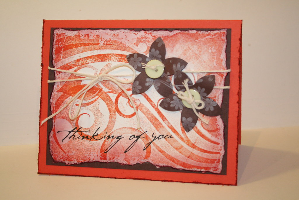 Distressed card