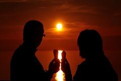 Friends.... (zio paperino) Tags: sunset red people italy sun sol nature geotagged nikon italia tramonto natura sole calabria d90 ziopaperino mygearandme mygearandmepremium mygearandmesilver mygearandmegold