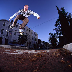 Alex Maw - BS Flip (Cherryrig) Tags: road 6x6 film 35mm fuji flash gap slide ps fisheye bronica skate epson sqa skyport v500 sb25 qflash cherryrig