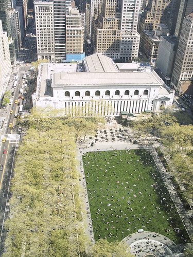 Bryant Park, Aerial View