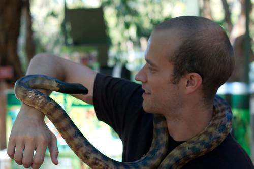 Christian vs Australian snake