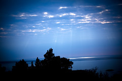 Sunrays (Viking-) Tags: blue sun water dark heaven god rays sunrays beams sunbeams waterscape