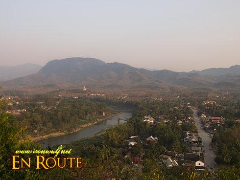Phu Si Hills Luang Prabang East side overview