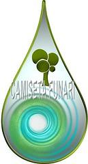 simbolo logo aguas florestas gota desenho 3d