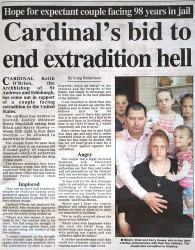Cardinal's bid to end extradition hell