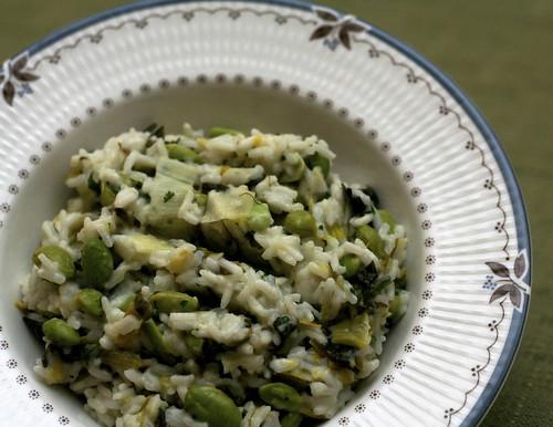 Coconut Rice with Edamame & Leeks