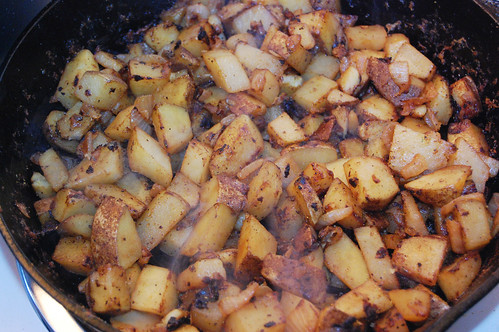 smoking potatoes