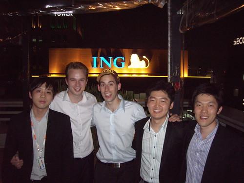 ING Goodbye party. Patrick, Marten, Joop, Seung Han, Seyeon