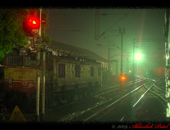Waiting for a green Signal, can get you great pictures. (Find the sitting Man) (Abhishek.Patel) Tags: night train peace railwaystation winner mumbai abhishek hdr patel vapi surat nighthdr nikond40 platinumheartaward railwayhdr nikond40hdr trainhdr artofimages bestcapturesaoi trainwaitingforthesignal