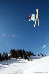 White Pine in March (CrossroadStudios) Tags: mountain mountains utah jump ut skiing air extremesports snowbird derekolthuis