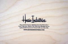 House Industries (scottboms) Tags: kids toys typography design raw type blocks houseindustries neutraslab
