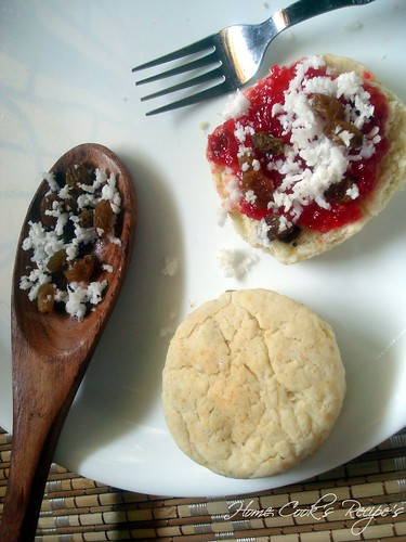 Scones with Mixed Fruit Jam and Toppings