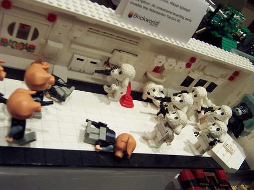 Lego starwars custom minifig scene