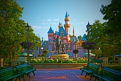 Disneyland - Sleeping Beauty Castle (Matt Pasant) Tags: california morning castle canon landscape la day alone time outdoor disneyland empty icon disney mickey orangecounty anaheim waltdisneyworld iconic dlr canonef2470mmf28lusm sleepingbeauty partners waltdisney mainstreetusa sleepingbeautycastle mywinners imagetype photospecs canoneos5dmarkii