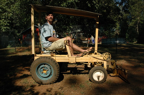 lonnie green and his human powered bulldozer by sharpeworld.